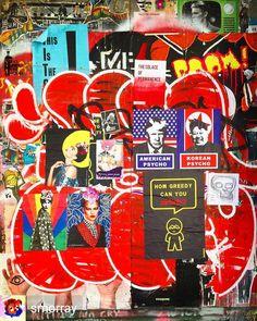 The collage door has been updated!  @Regrann from #streetart #graffiti #pasteup #shoreditch #london #streetartlondon #hellothemushroom #andreacook #subdudelondon #inkteraktiv #ghostcollective #pussypowerposse #savantart #pasteupart #pasteupartist #streetartculture #streetarteverywhere #streetartandgraffiti