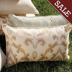 Outdoor Piped Throw Pillow 12 inch x 20 inch ~ (black, patio)