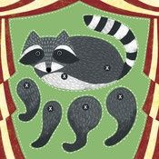 Image of Cut Out and Make Raccoon Puppet Card