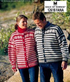 Dale of Norway--Fana Nordic Sweater, Men Sweater, Cool Sweaters, Sweaters For Women, Norwegian Knitting, Sweater Knitting Patterns, Weaving Patterns, Vintage Knitting, Crochet