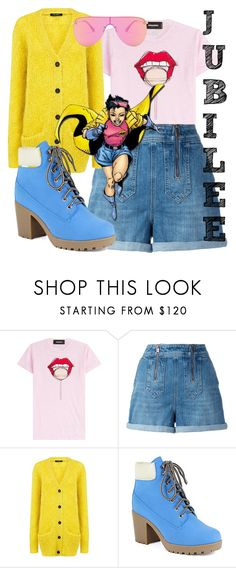 """""""Jubilation Lee"""" by missmygreenhair ❤ liked on Polyvore featuring Dsquared2, Tommy Hilfiger, Pink Tartan and Le Specs"""