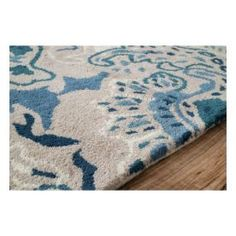$5 Off when you share! Marquis LUM41 Damask Turquoise Rug | Contemporary Rugs #RugsUSA