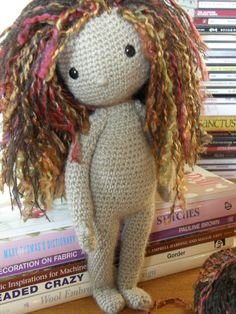 violet - made by me from the pattern in the book: My Crochet Doll by Isabelle Kessedjian ☆