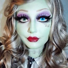 A combination of cult favorite looks for Halloween, Frankenstein and Monster High is featured in this sexy makeup. Watch the video to recreate with these products.