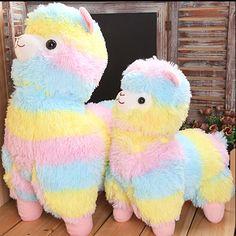 35cm Rainbow Alpaca Plush Toy Vicugna Pacos Japanese Soft Plush Alpacasso Sheep Llama Stuffed Toy Gifts for kids and Girls - http://manydolls.com/?product=35cm-rainbow-alpaca-plush-toy-vicugna-pacos-japanese-soft-plush-alpacasso-sheep-llama-stuffed-toy-gifts-for-kids-and-girls