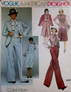 Vogue 1369 Jacket Skirt Pants Vest Blouse B36 by Denisecraft, $9.99