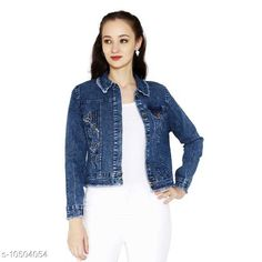 Checkout this latest Jackets & Waistcoat Product Name: *Western Denim Fashionable Embroidered Jacket* Fabric: Denim Sleeve Length: Long Sleeves Pattern: Embroidered Multipack: 1 Sizes:  S (Bust Size: 36 in, Length Size: 19 in)  M (Bust Size: 38 in, Length Size: 20 in)  L (Bust Size: 40 in, Length Size: 21 in)  XL (Bust Size: 42 in, Length Size: 22 in)  Easy Returns Available In Case Of Any Issue   Catalog Rating: ★4 (373)  Catalog Name: Trendy Modern Women Jackets & Waistcoat CatalogID_1917965 C79-SC1023 Code: 224-10504054-3501