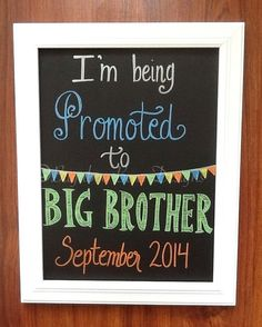 I'm Being Promoted to Big Brother Pregnancy by BugabooBearDesigns, $24.00