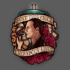 Just This Once T-Shirt $12 Doctor Who tee at Blue Box Tees!