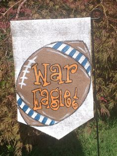 Burlap Garden Flag War Eagle Auburn Football By Burlapulous