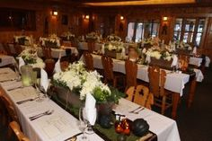 Dining Room Reception at Peaceful Valley Resort & Conference Center in Lyons, Colorado.