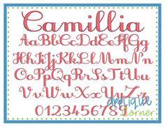 Camillia Embroidery Font