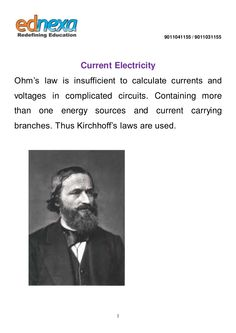 #JEEMain 2015 Physics - Current Electricity Notes Click here to read more: http://www.ednexa.com/jee-main-2015/physics-current-electricity-notes/