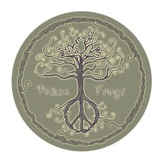 Peace Frogs Tree - Wanting a tree like this with maybe some leaves to add to my Imagine wrist tattoo