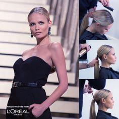 Natasha Poly: Sleek ponytail tutorial