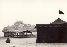 """Otra vista de Peñíscola durante el rodaje de la película """"El Cid"""" en 1960."""