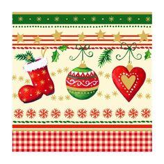"""Servietten, 3-lagig 1/4-Falz 25 cm x 25 cm """"Traditional Christmas"""" - Bild 1 - Zum Vergrößern hier klicken!"""
