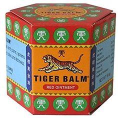 Tiger balm - Baume du tigre rouge 30 g - Le véritable baume du tigre extra fort: Amazon.fr: Hygiène et Soins du corps