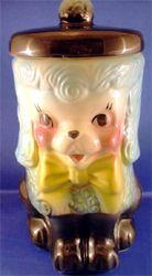Vintage Poodle Cookie Jar