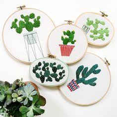 stitching art by Sarah Benning