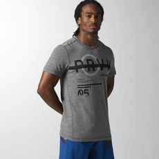 Reebok - Reebok CrossFit T-shirt van drie soorten materiaal