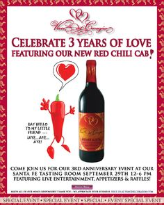 Less than 20 minutes from Seasons Resort Rancho Encantado Santa Fe you can enjoy a tasting at Vino del Corazon! Tasting Room, Wine Tasting, Santa Fe, Red Chili, Wineries, Special Events, Red Wine, Chile, Alcoholic Drinks