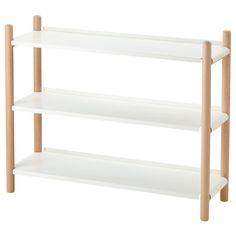 IKEA PS 2017 Shelving unit - beech, white - IKEA Ikea Ps 2017, Ikea Shelves, White Shelves, Shelving Units, Ikea Shelf Hack, Bookshelves Ikea, Kallax Shelf, Modern Bookshelf, Ikea Desk