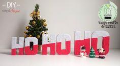DIY Letras decorativas 3D feitas com sobras de papelão e cobertas com feltro. Confira o passo-a-passo!