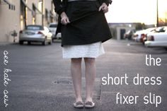 short dress fixer slip