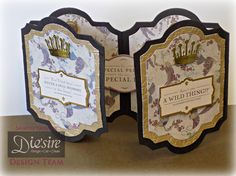 Sandie Gough Create a Card – Card Base Dies: Ruth - Die'sire Dowton Abbey Icons (Crown) Die, Downton Abbey 12 x 12 paper pad, Downton Abbey Die Cut sentiment - Pop Up Cards, Cool Cards, Screen Cards, Crafters Companion Cards, Craft Sites, Spellbinders Cards, Card Making Techniques, Blank Cards, Mini Albums