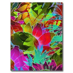 SOLD 2 Postcards Floral Abstract Artwork! #Zazzle #postcard #floral #painting #digital #artworg #abstract http://www.zazzle.com/postcard_floral_abstract_artwork-239254473575586307
