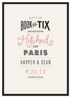 save the date cards - great typography