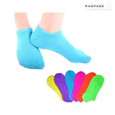 #socks,6 Pairs: Rampage Womens Bright Ankle Socks - Assorted Colors at nomorerack.com for 63% off.