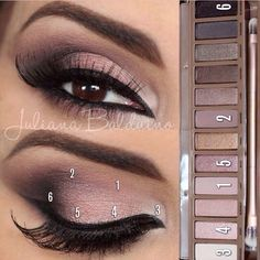 Naked3 Palette Look