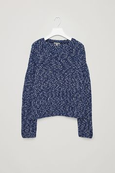COS image 5 of Boxy knit jumper in Blue