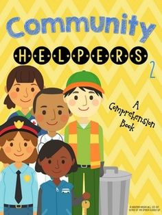 This fun, interactive mini lesson is perfect for your young speech therapy or English language class!!  Learn about different members of the community in this short comprehension book. #SpEd #SLP #OT #communication #printable #occupations #TpT #ELA #preschool