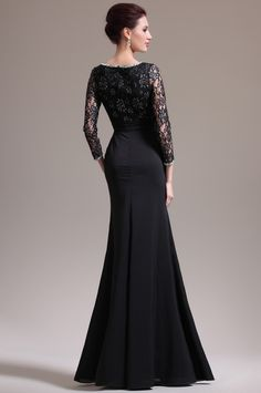 black floor length dress - Google Search