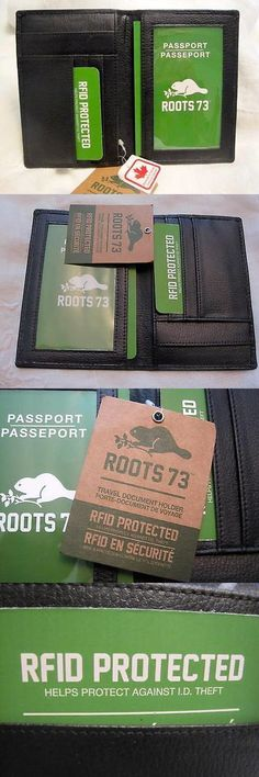 ID and Document Holders 169279: Nwt Roots 73 Black Leather Passport Document Holder Rfid Made In Canada New -> BUY IT NOW ONLY: $49.99 on eBay!
