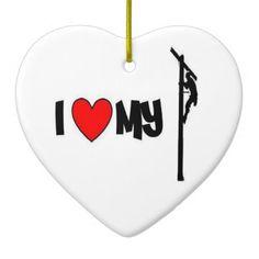 LOVE MY LINEMAN HEART ORNAMENT