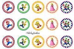 Super Mario Bros bottlecap images/cupcake toppers/printable