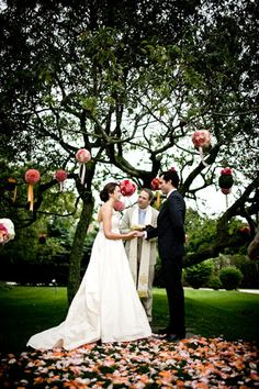 Petals and flowers at the ceremony