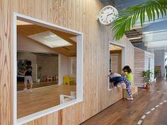 suppose design office: kiddy shonan C/X nursery school Design Maternelle, Classroom Design, Classroom Decor, Suppose Design Office, Student Lounge, Early Childhood Centre, Kids Cafe, Kindergarten Design, Kids Daycare