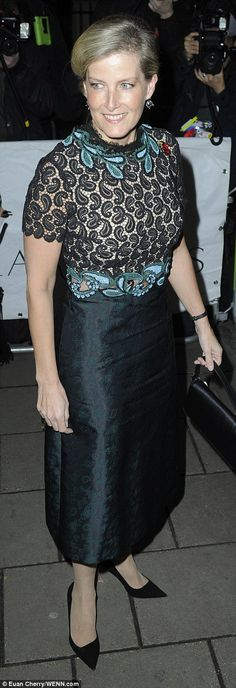 Royal seal of approval:Sophie, Countess of Wessex put in an appearance at the magazine aw...