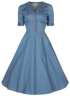 Lindy Bop 'Ionia' 1950's Robe, Rockabilly Pinup Shirt Dress (40, Bleu Mer) Lindy Bop http://www.amazon.fr/dp/B00E5GH5JY/ref=cm_sw_r_pi_dp_halLub0ESNDMQ