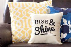 Decorative Pillow, Conversation Pillow, Saying Pillow by BlissNotions #homedecor #pillow #decorativepillow
