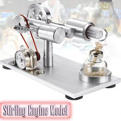 Educational Toy Experimental Stirling Engine Motor Model(BUY 1 GET – chiclues Engineering Science, Science Projects, Alcohol Lamp, Stirling Engine, Electrical Projects, Electrical Energy, Homemade Tools, Cool Things To Buy, Stuff To Buy