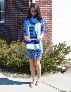 Spring into Style with this Nautical Outfit of the Day! Plus enter to win a $100 gift card! #SpringIntoStyle #IC #ad