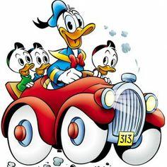 Donald Duck with Huey Dewey & Louie Classic Cartoon Characters, Classic Cartoons, Cool Cartoons, Disney Cartoons, Mickey Mouse E Amigos, Mickey Mouse Cartoon, Mickey Mouse And Friends, Donald Disney, Disney Duck