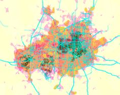 prettymaps (dallas/fort worth) by Aaron Straup Cope - 20x200 (from $24)