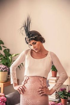 Look by Helena Mareque & head-dress by Suma Cruz perfect duo!!!